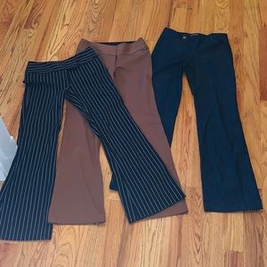 3 Pairs Express Editor Publicist Work Pants 0/2 R